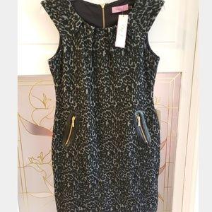 Eliza J Women's Shift Dress Gray/Black Size 10P